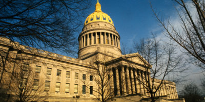 1972, Charleston, West Virginia, USA --- Charleston, W.V.: Exterior view of the State Capitol Building. Also, close ups of the dome. --- Image by © Bettmann/CORBIS